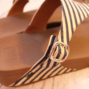 44e4baf55 Fitflop Shoes - Fitflops The Skinny Navy and Cream Striped Sandal